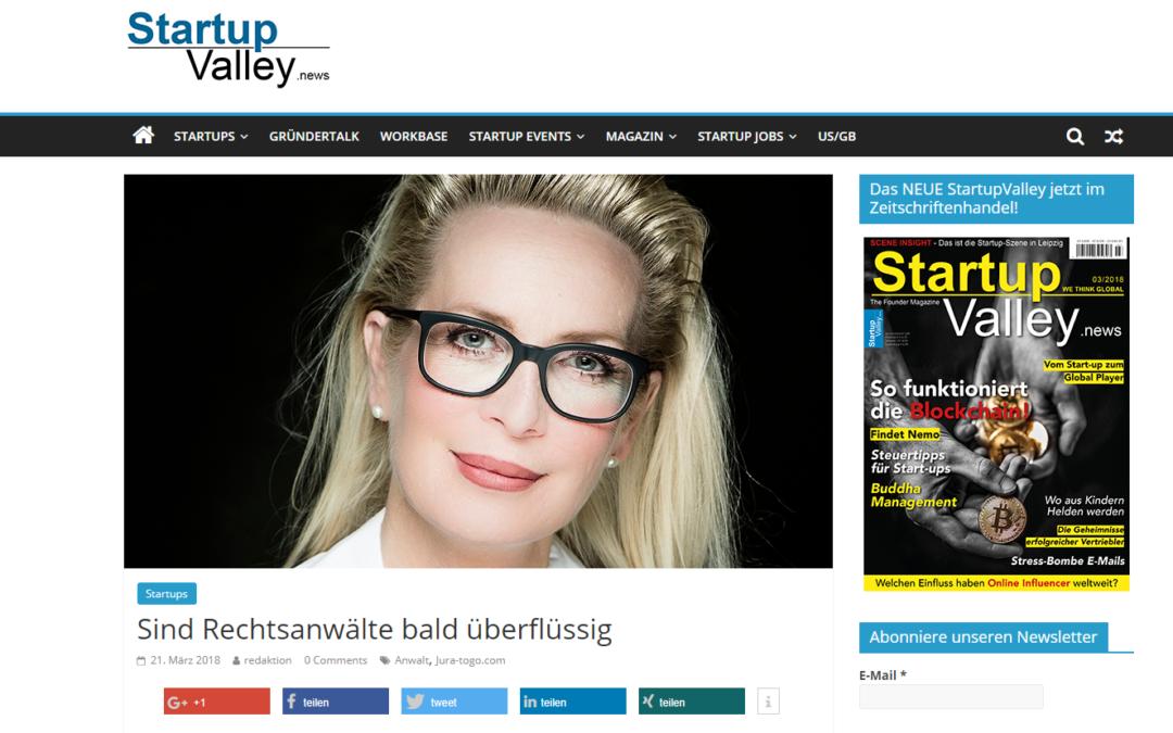 Gastbeitrag in den Startup Valley News